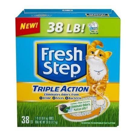 38 Lb Scented Triple Action Cat Litter Be Sure To Check Out This Awesome Product Cat Litter Clumping Cat Litter Best Cat Litter