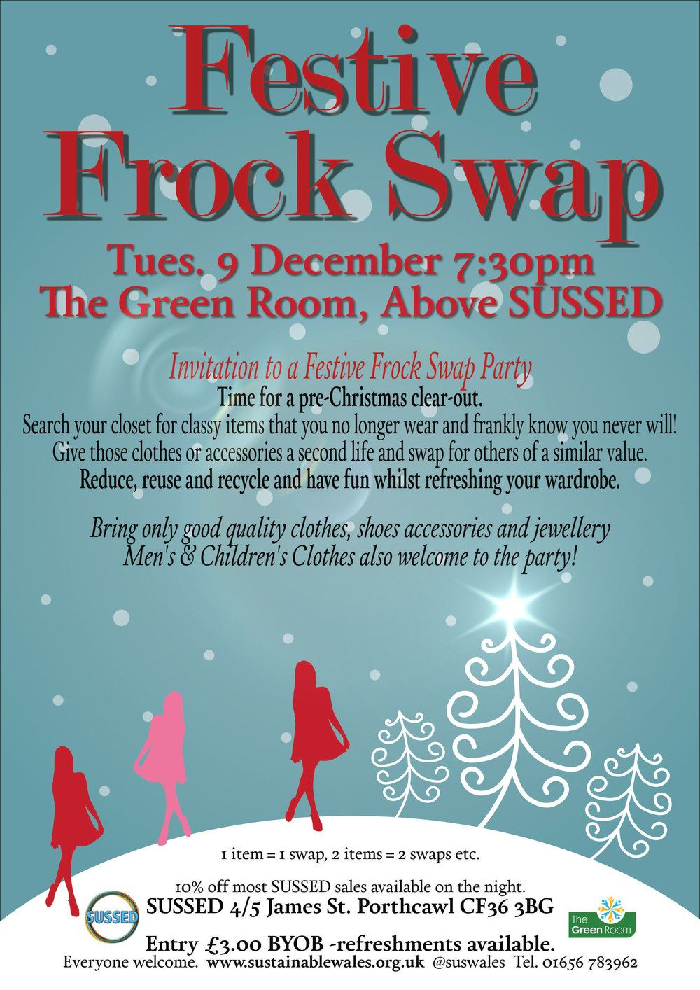 Events Sussed Frock Swap 9 December Porthcawl Event Swap