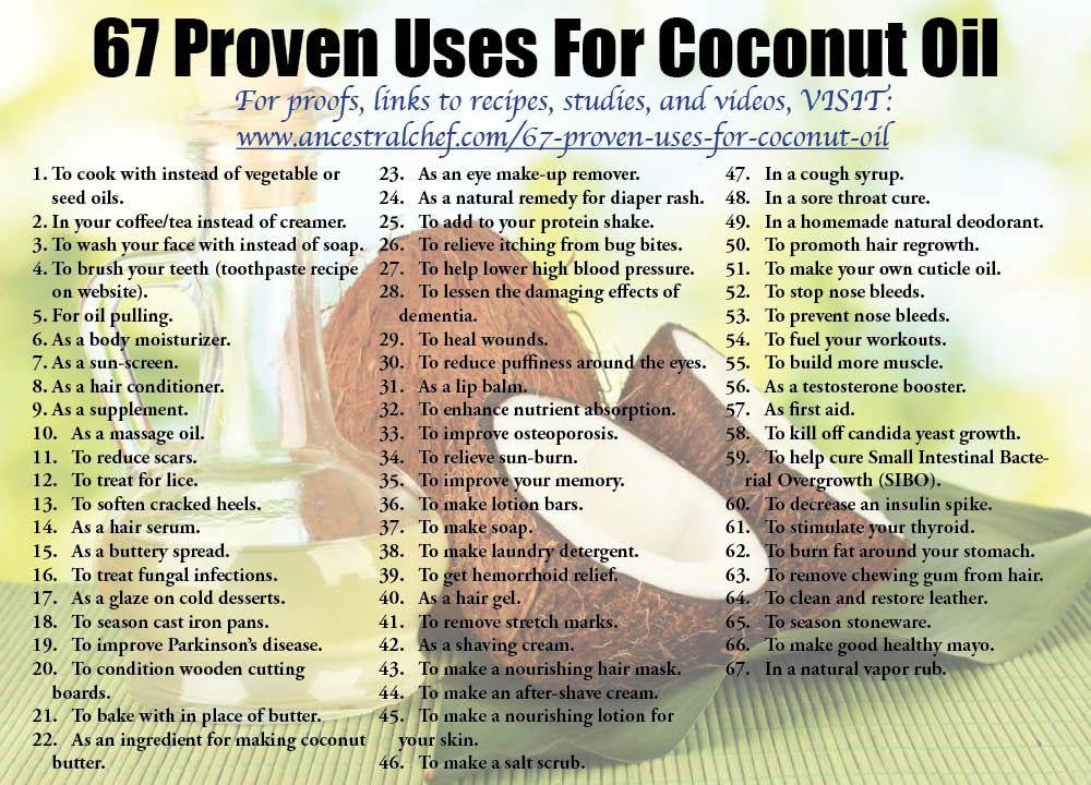 67 Proven Uses for Coconut Oil   Paleo Recipes   Coconut oil uses