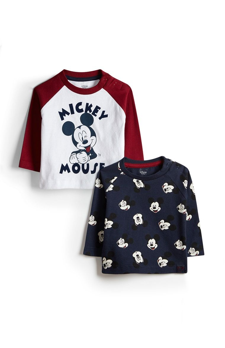 231a4b5e6 2 camisetas Mickey Mouse para bebé niño