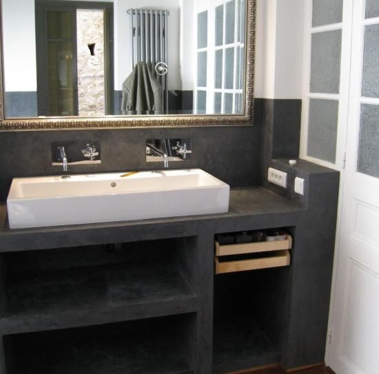 structure béton Salle de bain Pinterest Blue bath, Bath and House