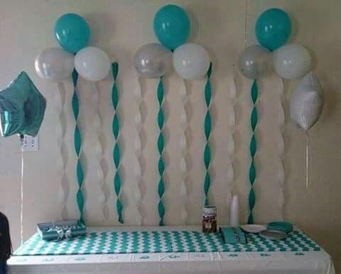 Sencillo Y Muy Facil Para La Fiesta De Los Peques Boy Baby Shower Ideas Globos Baby Diy