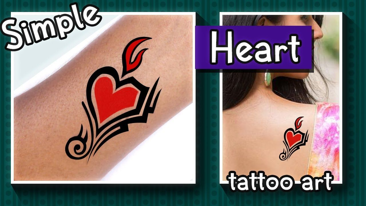 Photo of Simple Floral love tattoo Art ❤100% Temporary tattoo art ❤Home Made Tattoo ❤NEW TATTOO