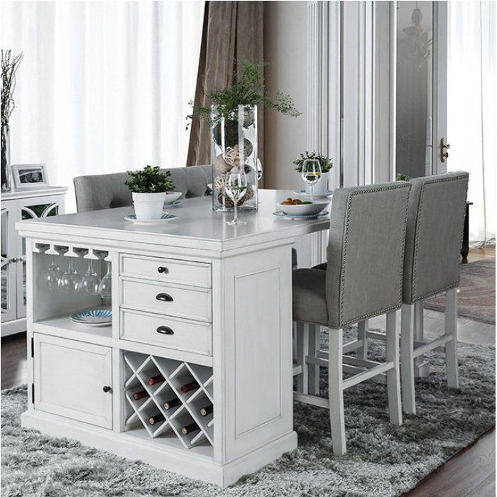 Canora Grey Melendez 5 Piece Dining Set Reviews Wayfair Counter Height Dining Table Counter Height Dining Sets Kitchen Island Table