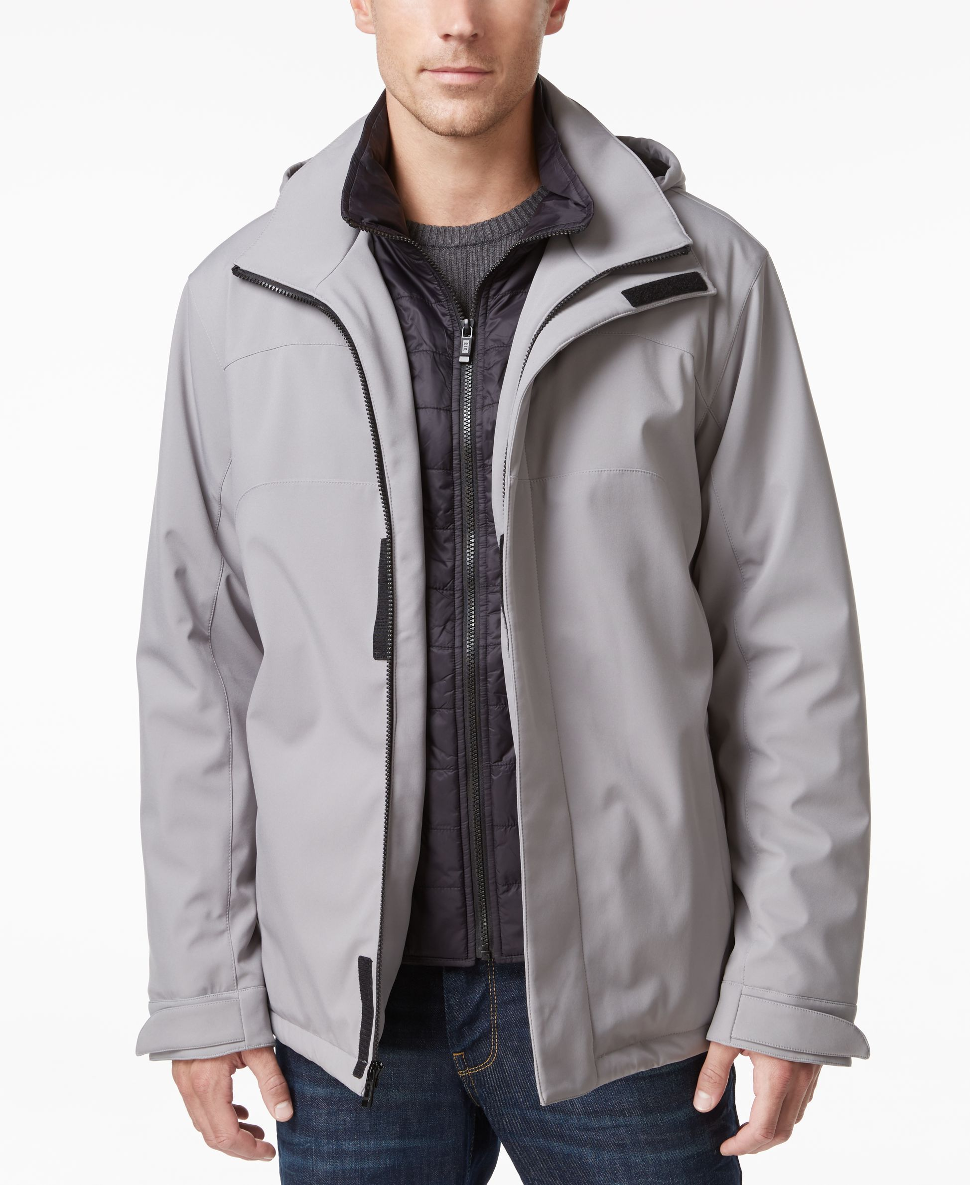 Weatherproof Vintage Men S Hooded Active Bib Jacket Mens Hooded Jackets Mens Jackets [ 2378 x 1947 Pixel ]