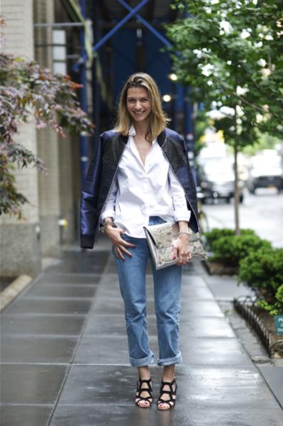 #375 Aleks Dinic on West 38th St, Garment District, New Yorkjacket: Sheena Trivedi denim: Levi's 501 shoes: Givenchy...