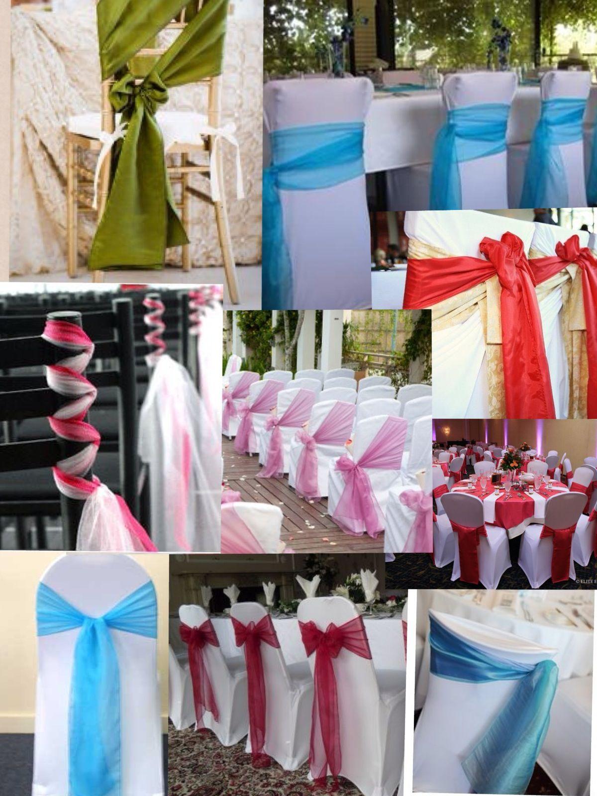 Different ways to tie chair sashes Wedding Pinterest