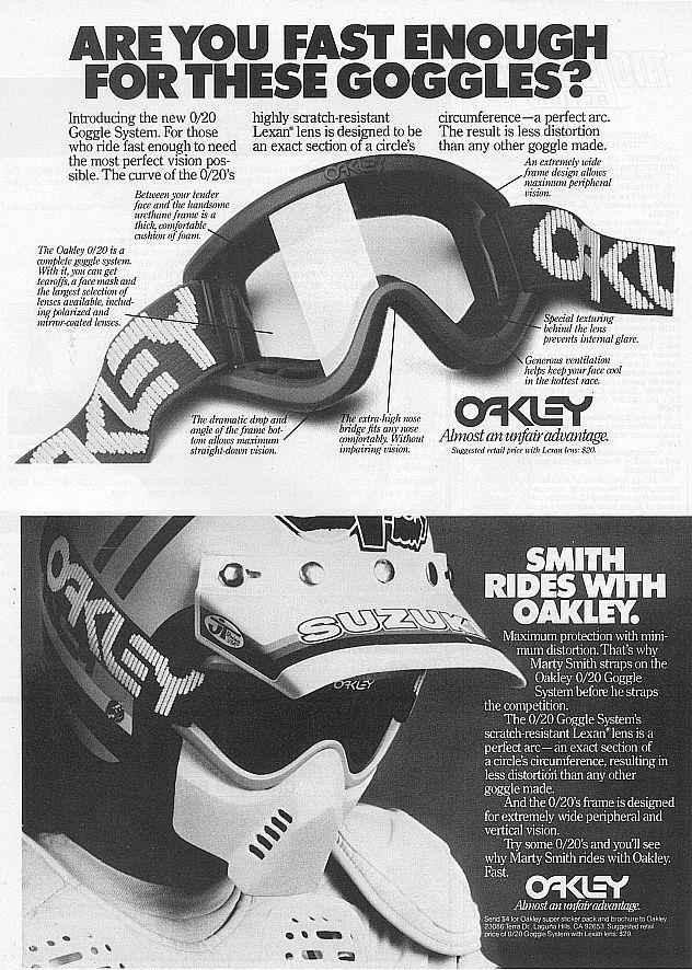 oakley vintage motocross