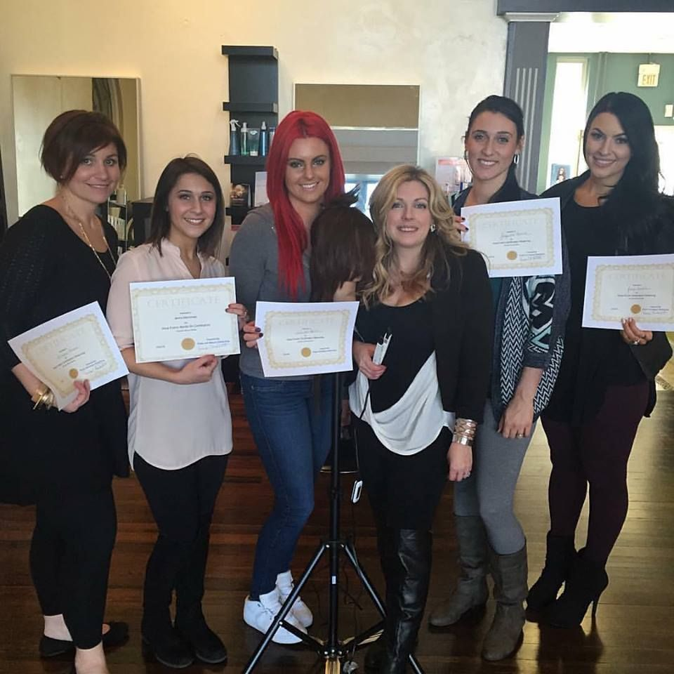 Aqua Hair Extensions Keratin Fusion Certification Class In Boston Ma