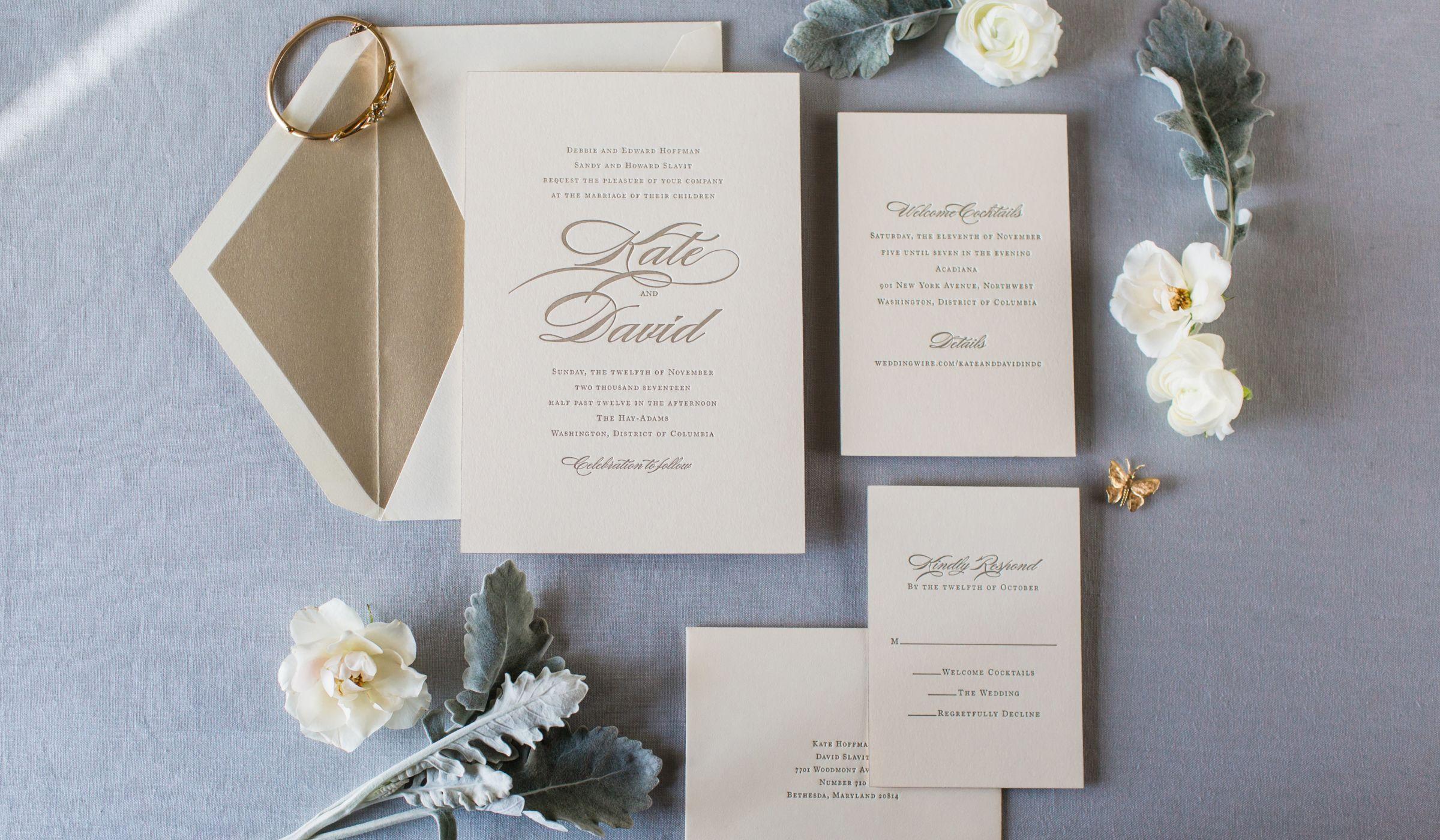 Wedding Invitation Wording Decoded