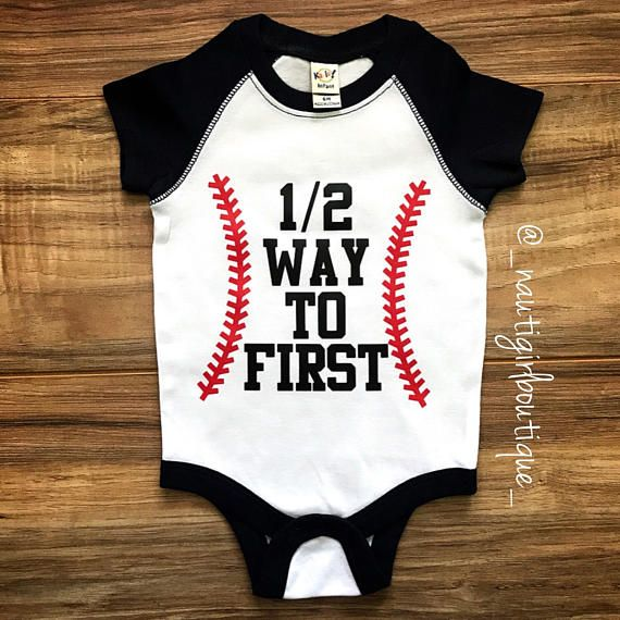 1 2 Birthday Custom Onesie Baseball Baby Boy