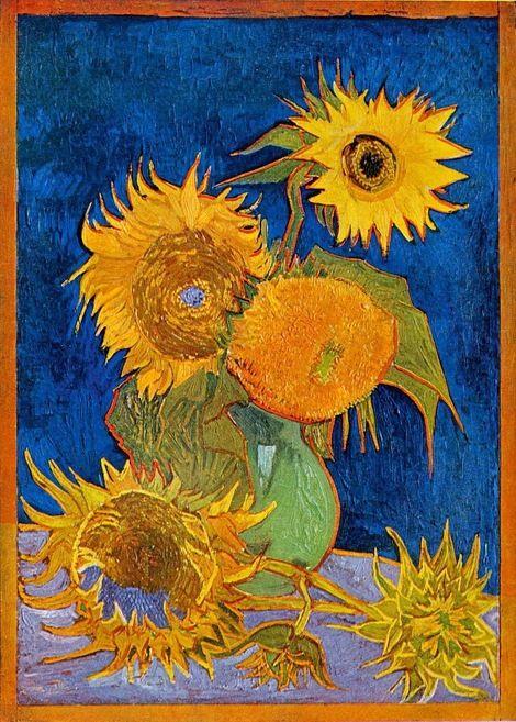 Five Sunflowers 1888 By Vincent Van Gogh Obras De Arte Pinturas Fondo De Arte
