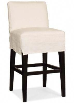 Slipcovered Bar Stool Make Out Of An Old Table Cloth