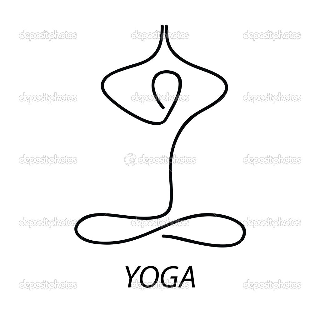 Line Drawing Yoga Pose : Yoga symbols imgkid the image kid has it