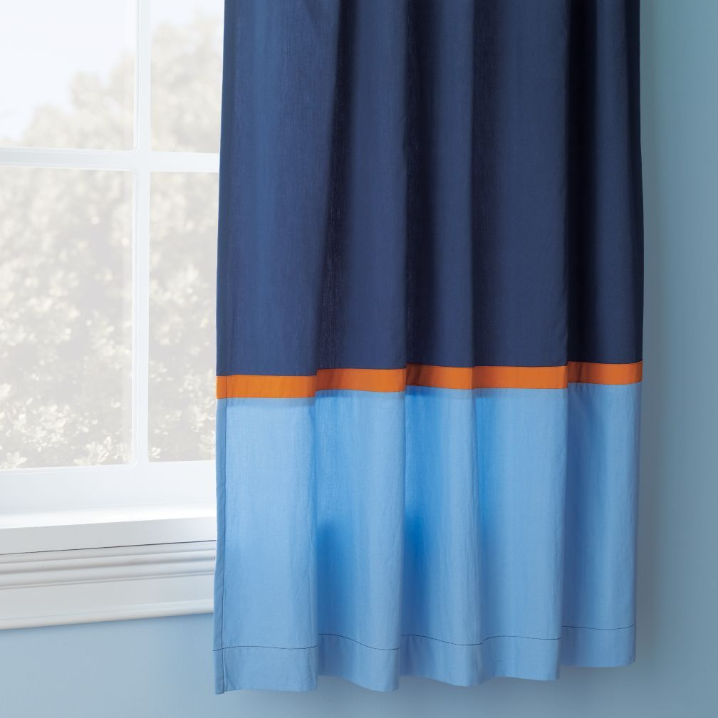 Solar System Orange and Blue Curtains | Kids bedroom | Light blue ...