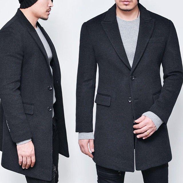 """""""Classic Cashmere Winter Coat  Fit: Slim  Size: XS, S , M  Color: Black, Charcoal & Navy  Shop @ www.menstyleshop.com"""""""