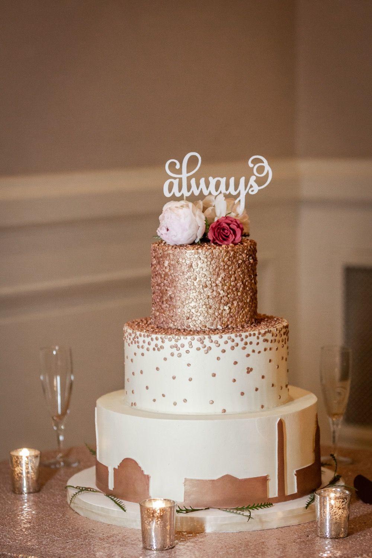 Rose Gold Cake ,Carnegie Institution for Science Wedding ...