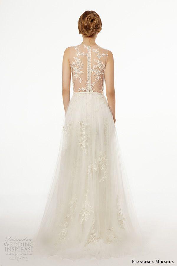 francesca miranda wedding dress fall 2015 strapless straight across neckline aline bridal gown capraia back