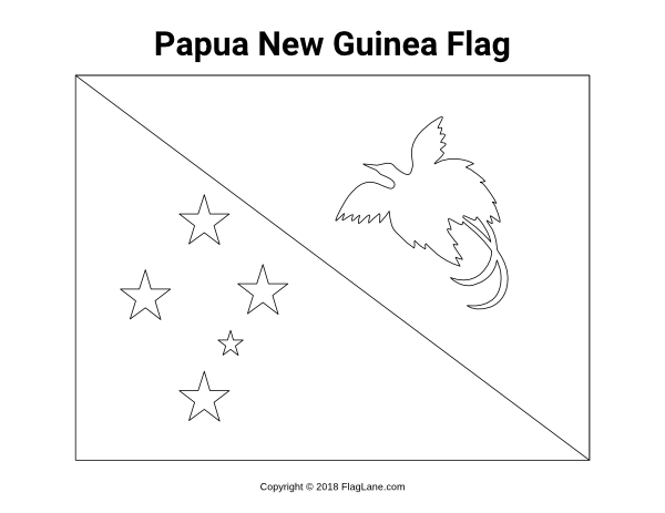 27++ Papua new guinea flag coloring page HD