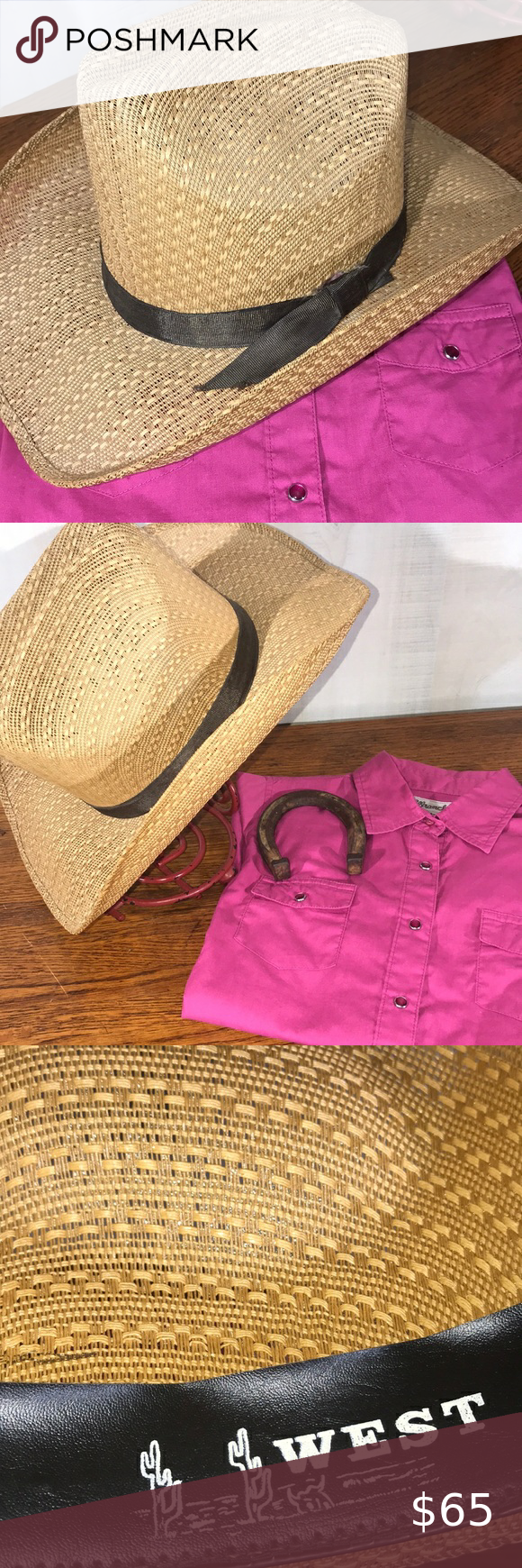 Vintage Straw Cowboy Hat Size 6 7 8 Vintage Maral Hats Western Wear Cowgirl Hat Size 6 7 8 Hat Band Ribbon Is Showing A Straw Cowboy Hat Cowgirl Hats Hat Sizes