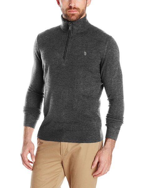 425a7cda5 U.S. Polo Assn. Men s Solid Half-Zip Sweater