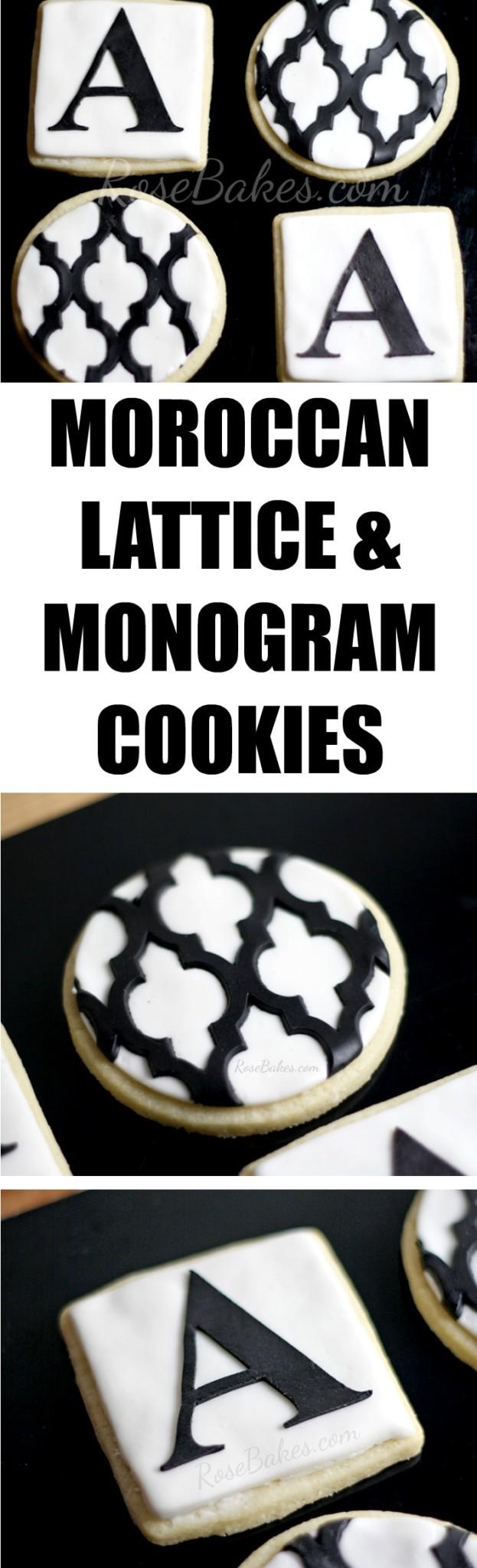 Moroccan Lattice & Monogram Cookies