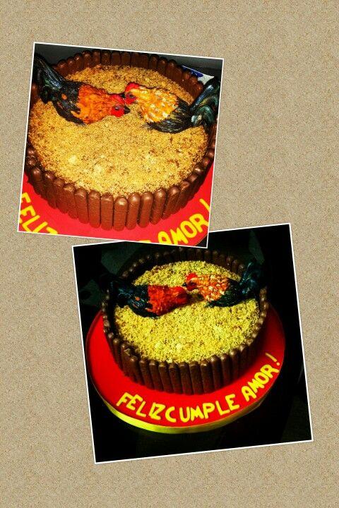 Pelea de gallos | cakes | Pinterest | Gallos, Cumpleaños hombre y ...