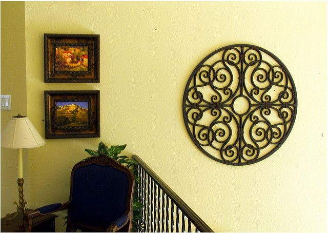 Decorating Homes With Wrought Iron Wall Art | Iron wall art, Iron ...
