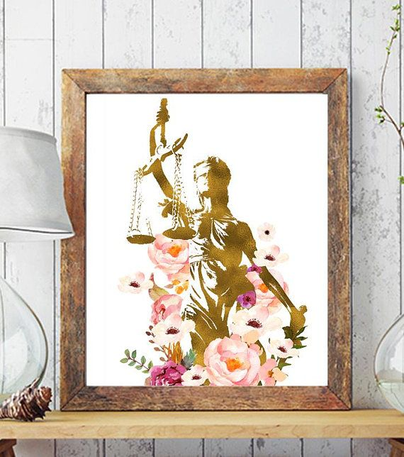 Lawyer Gift Art Lawyer Art Lawyer Office Decor Justice Art