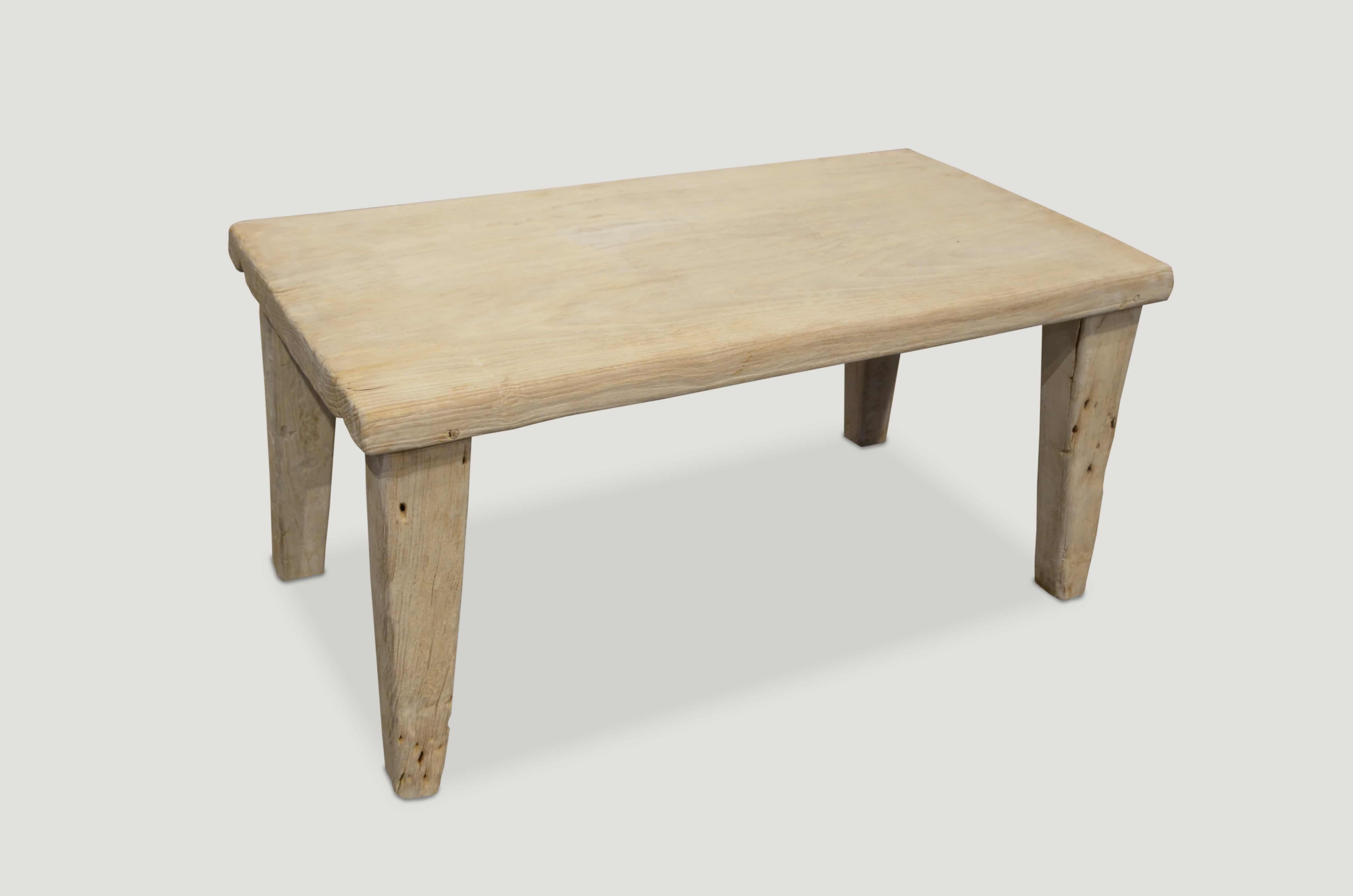 Bleached Teak Furniture St Barts Collection Teak Coffee Table