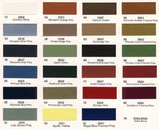 Rattletrap Car Coloring Pages : Cadillac fleetwood eldorado paint color chips
