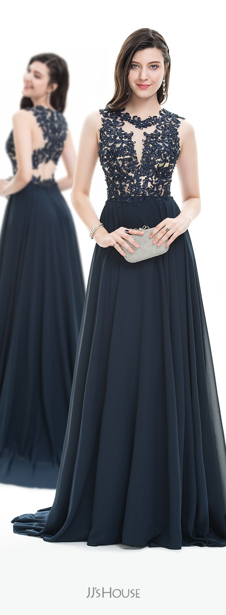 Jjshouse prom vestido longo azul bic pinterest prom gowns