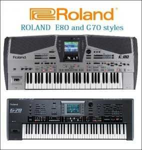 ROLAND E80 and G70 Styles  STL magesy pro | Professional