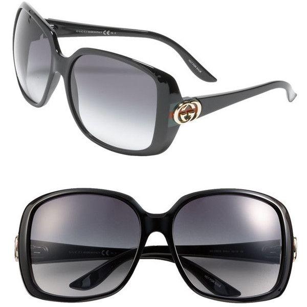 0437b66e5b8daf Gucci Oversized Square Sunglasses ( 245) found on Polyvore