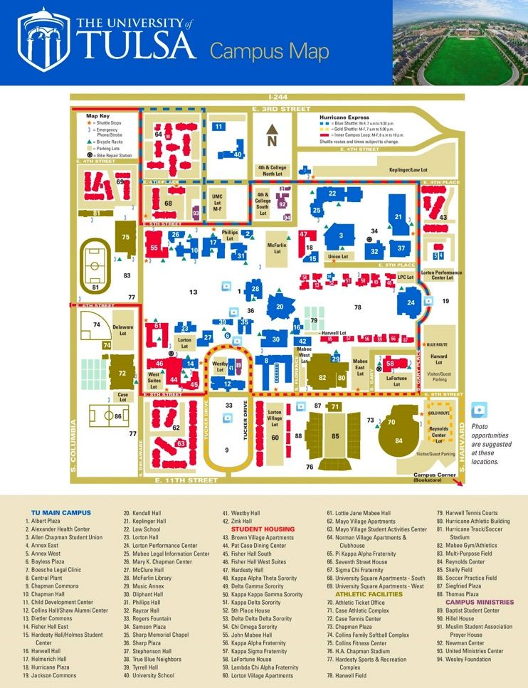 Tulsa Campus Map Maps Pinterest Map Campus Map I City