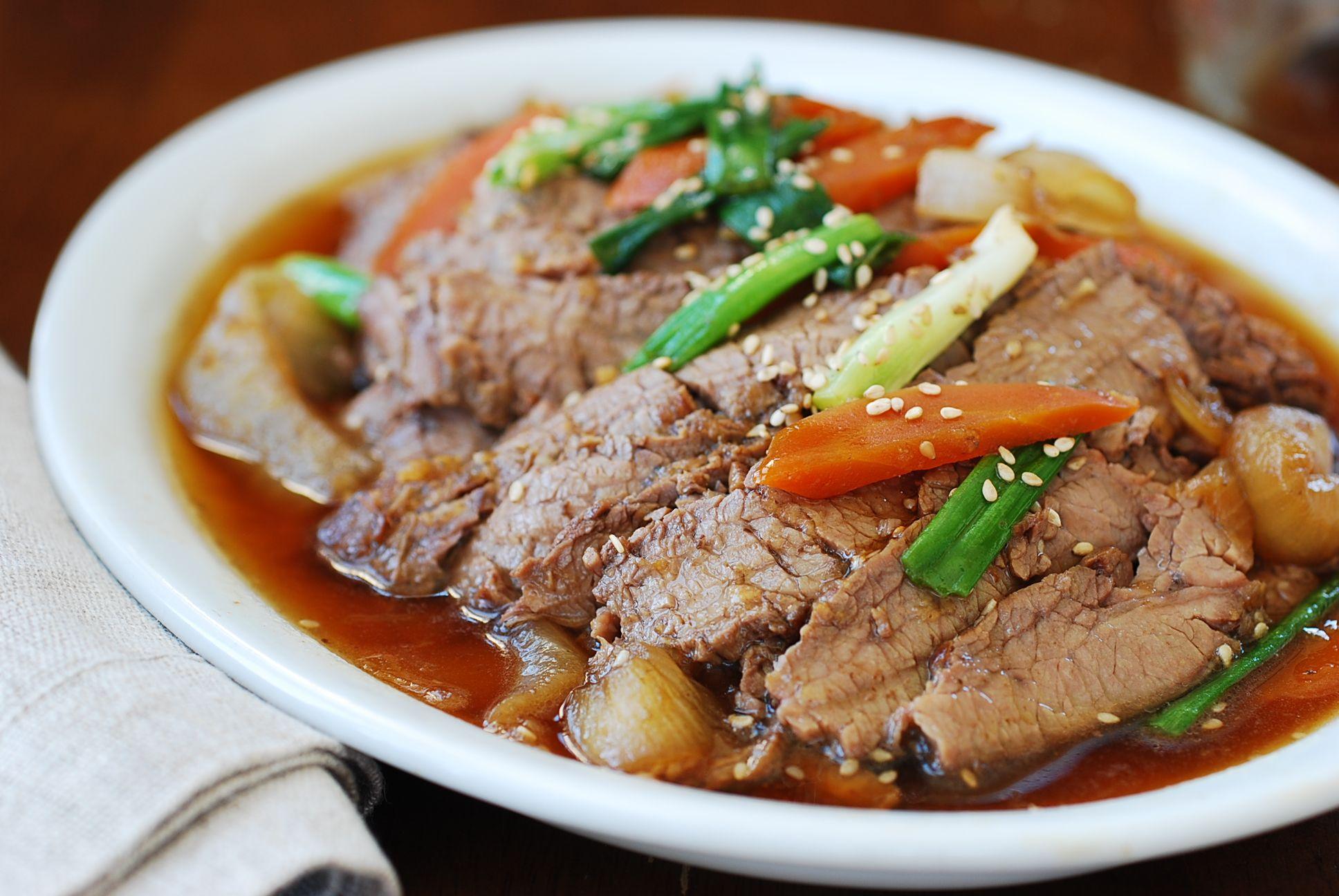 Slow Cooker Bulgogi - Korean Bapsang | Recipe | Bulgogi ...