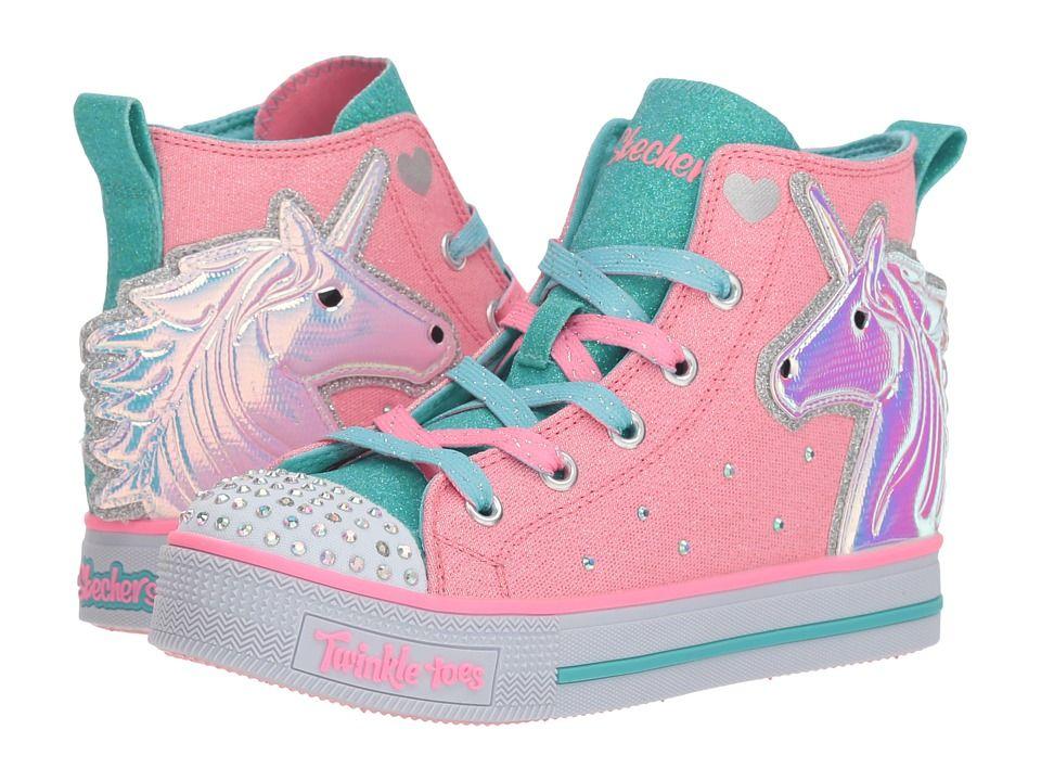 d2a7acc7cc34ef SKECHERS KIDS Twinkle Toes - Twinkle Lite 20078L (Little Kid/Big Kid)  Girl's Shoes Pink/Multi