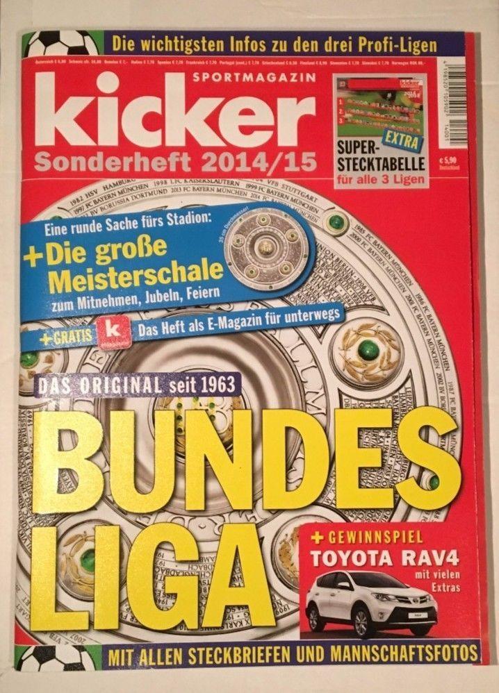 "kicker!SPORTMAGAZIN!Bundesliga "" Sonderheft 2014/15"