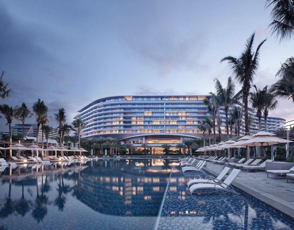 Gallery Of Hainan Blue Bay Westin Resort Hotel Gad 14 Resort Architecture Hotel Design Architecture Hotel Facade