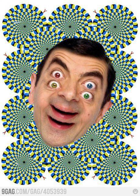Mr Bean optical illusion