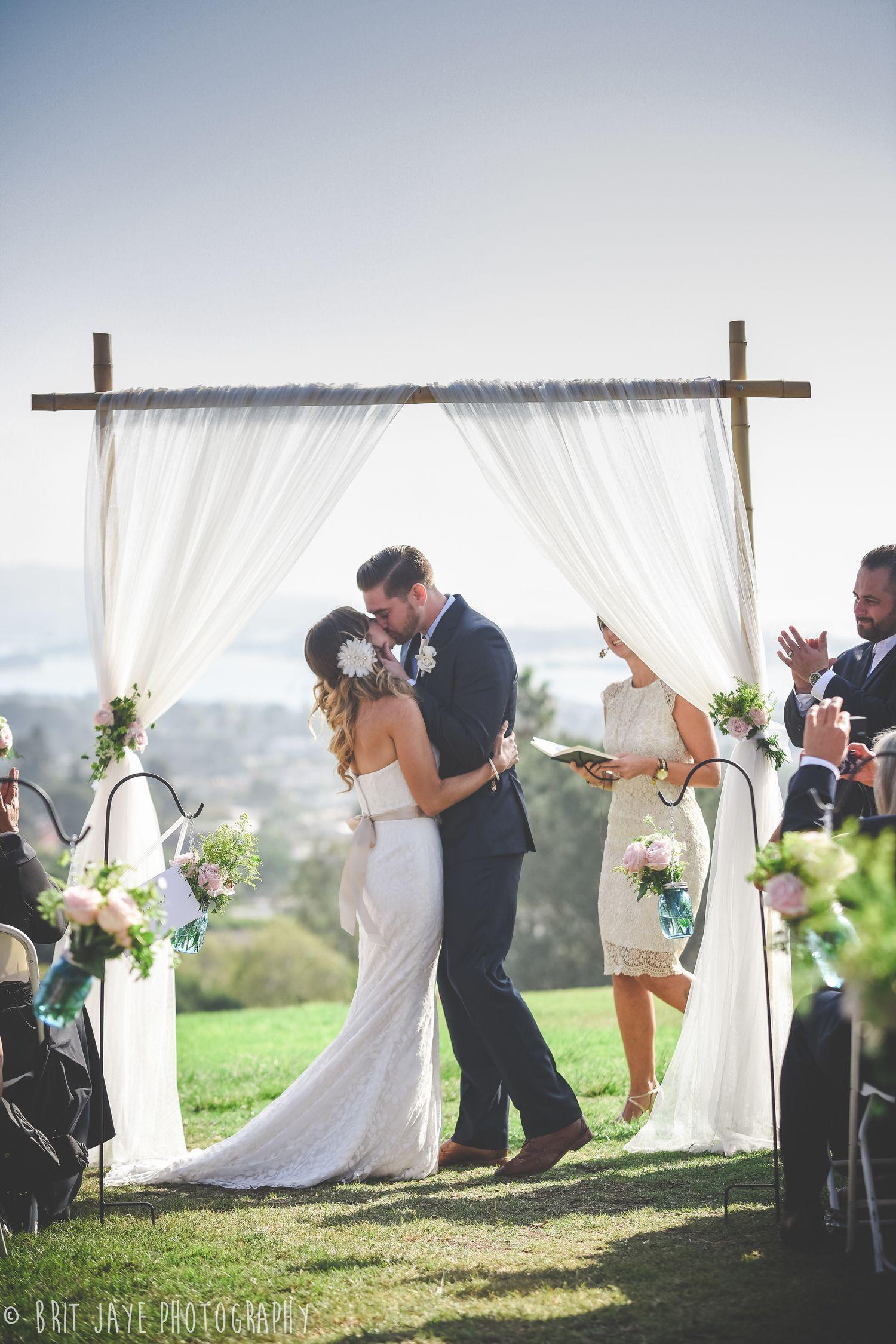Wedding Kiss, Kate Sessions Park Wedding Ceremony, San