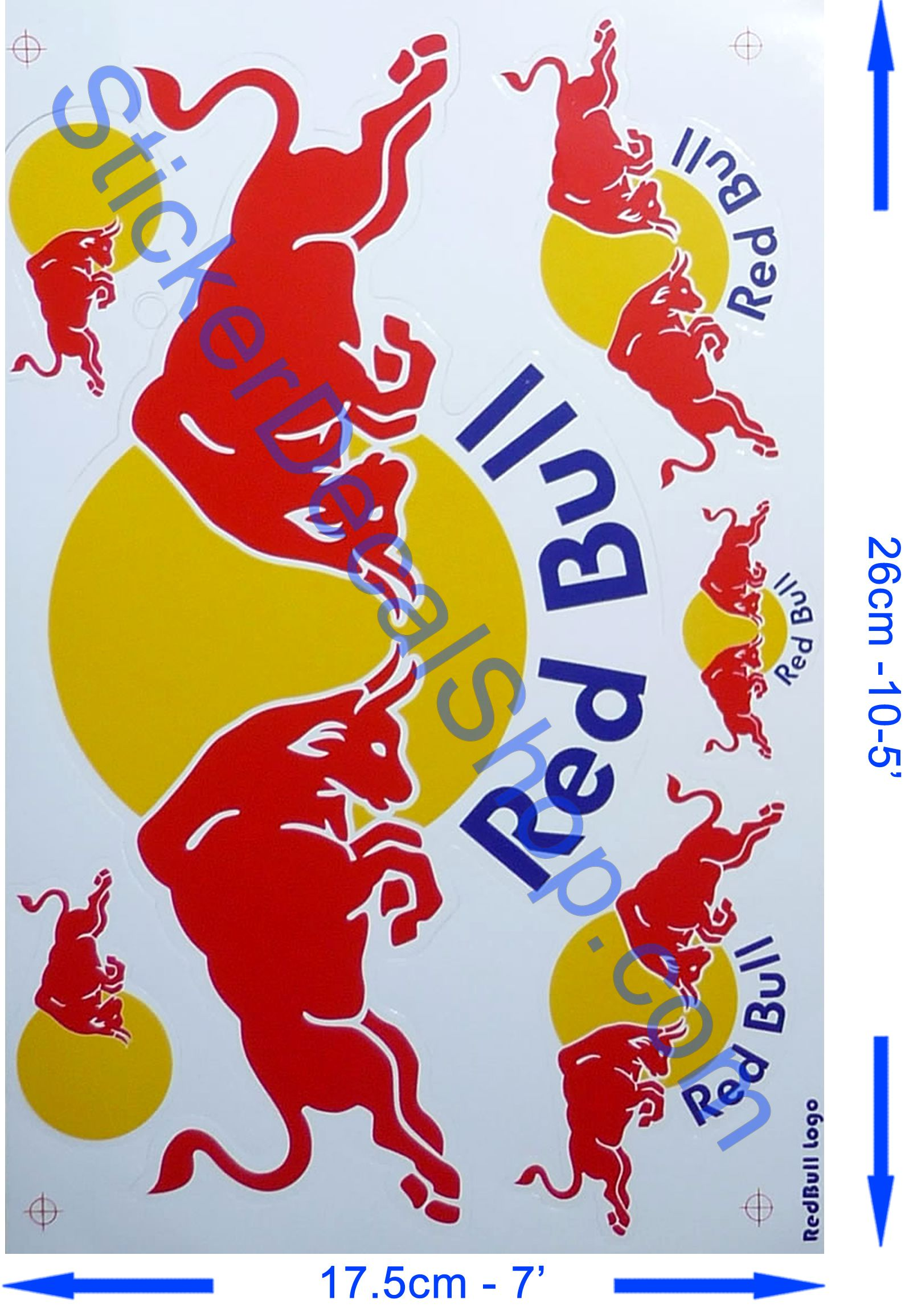 Red Bull F1 Sticker Red Bull Stickers Decal Red Bull