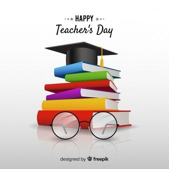 World Teachers' Day Composition With Realistic Design