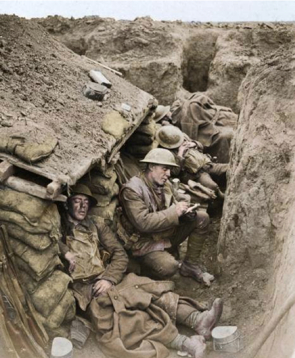 four canadian soldiers sleeping and writing letters in the trenches rh pinterest com Us Military Fatigues Women in Military Fatigues