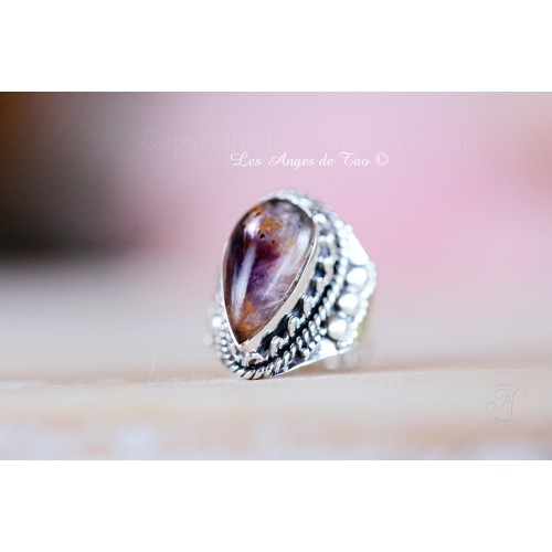 Boho Rainbow moonstone ring pour femmes Argent Sterling Fait Main Bijou Taille 6 7 8 9