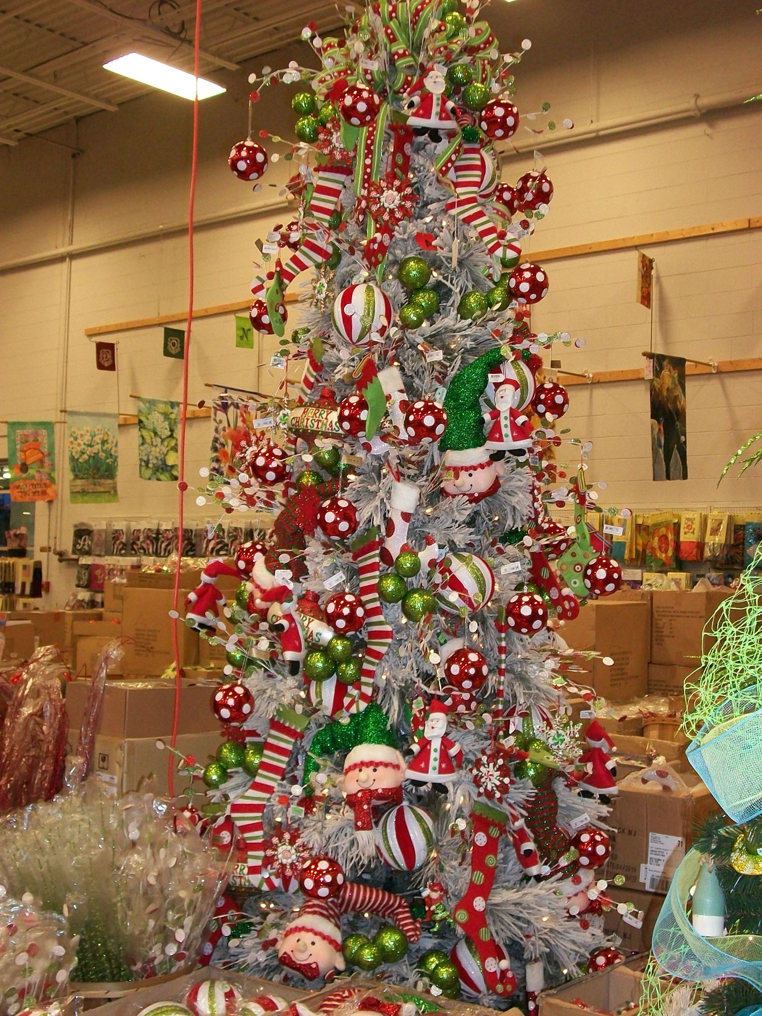 Tree Of Elf And Candy Fun I Designed Pencil Christmas Tree Candy Christmas Tree Christmas Tree Decorations