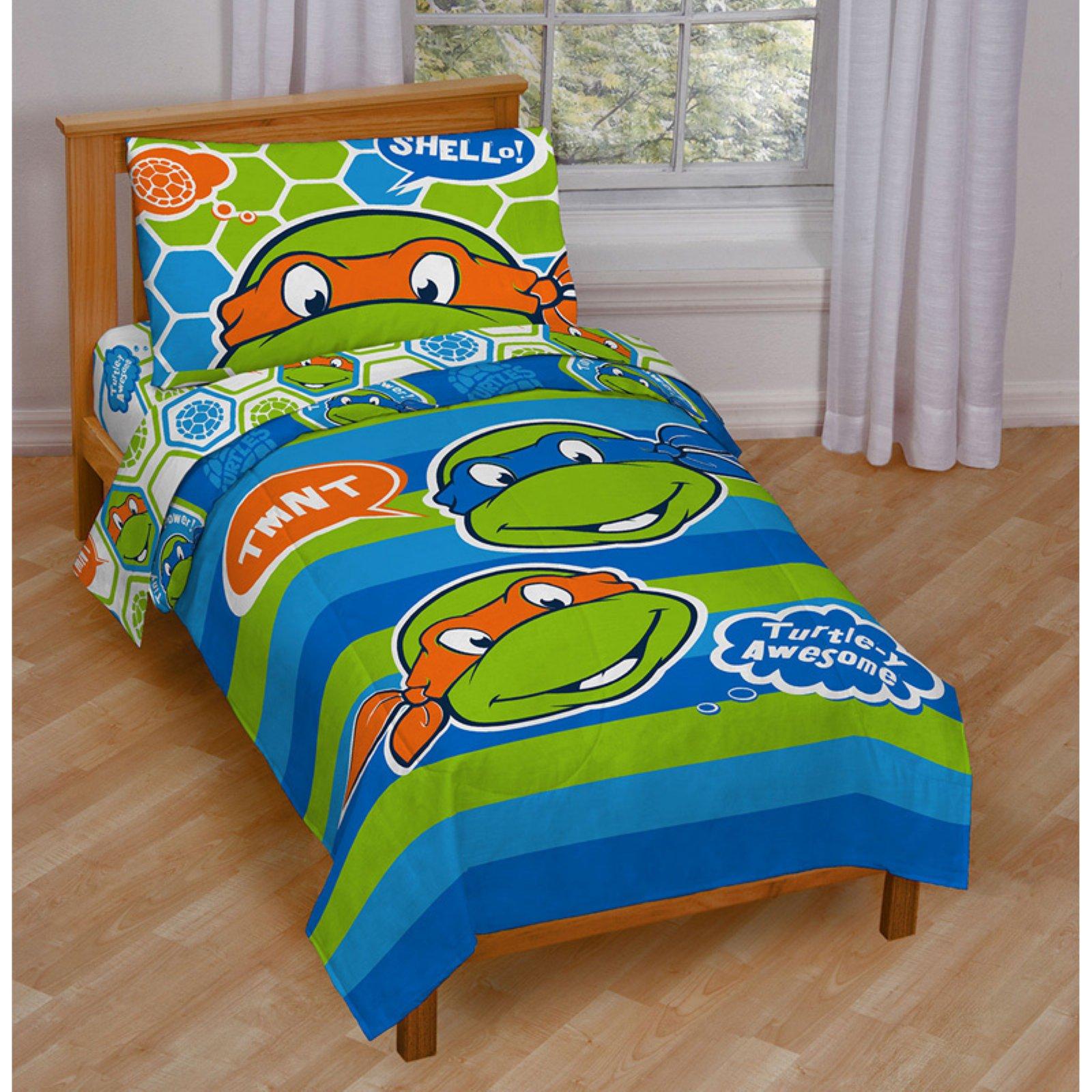 Teenage Mutant Ninja Turtles Turtley Awesome Toddler Bed Set By Nickelodeon Toddler Bed Set Teenage Mutant Ninja Turtles Bedroom Ninja Turtle Bedroom