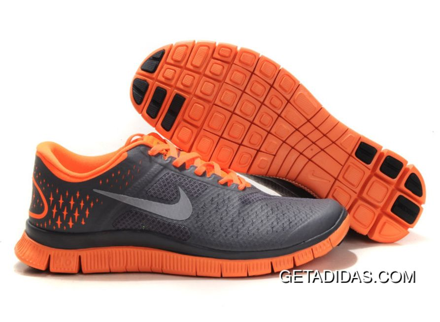 Women Nike Free Run 40 V2 Grey Orange Shoes