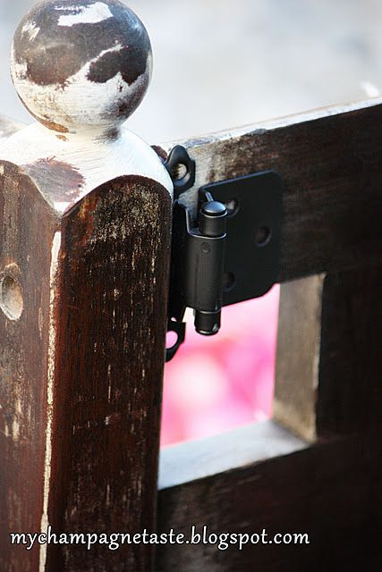add hardware to your bench so it will look more rustic