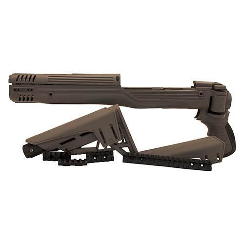 Ruger Mini 14 - TactLite Adj. Side Folding Stock with Scorpion Recoil System, Destroyer Gray